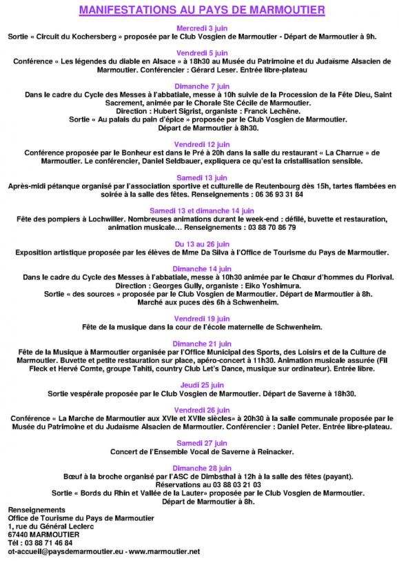 05 28 manifestations au pays de marmoutier juin