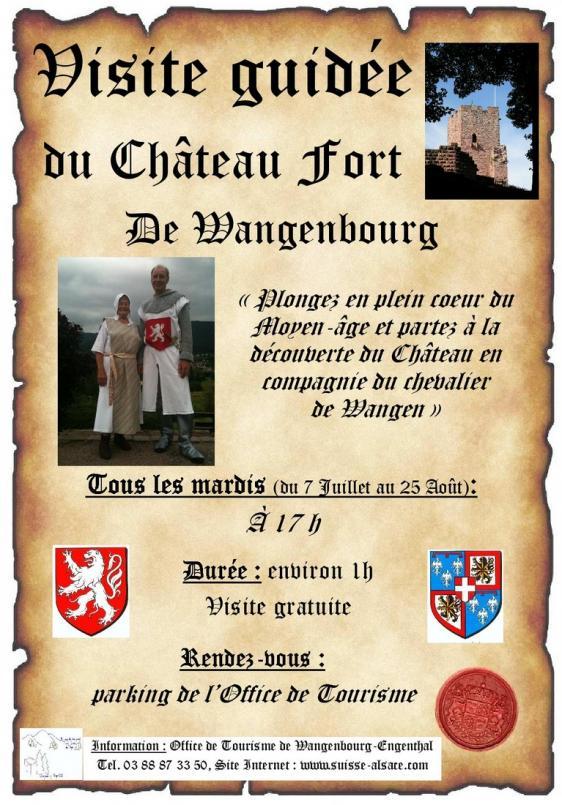 Visite guid e du ch teau fort de wangenbourg - Wangenbourg engenthal office tourisme ...
