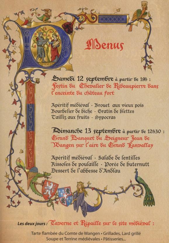 09 01 les medievales menu