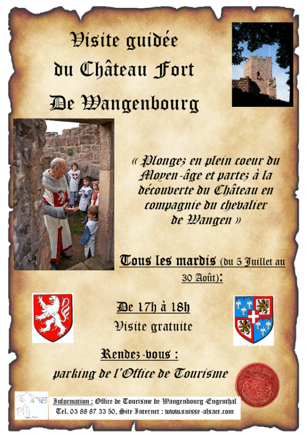 16 07 04 wangenbourg engenthal visite guidee du chateau fort