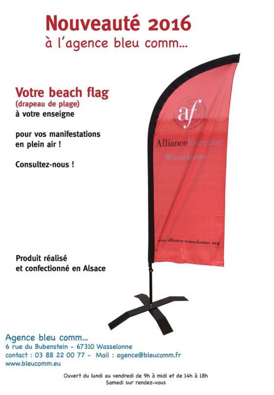16 08 05 bleucomm offre drapeau de plage