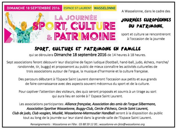 2016 09 06 wasselonne sport culture patrimoine