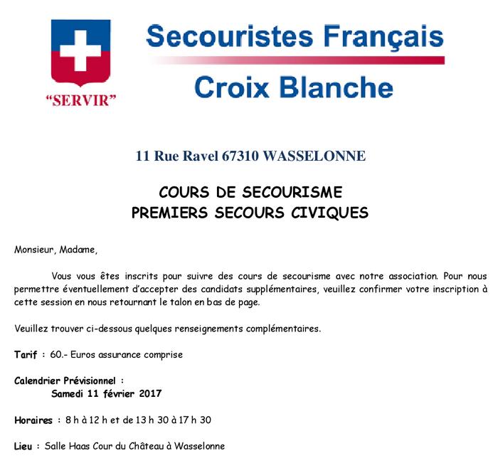 2017 01 18 cours secourisme wasselonne
