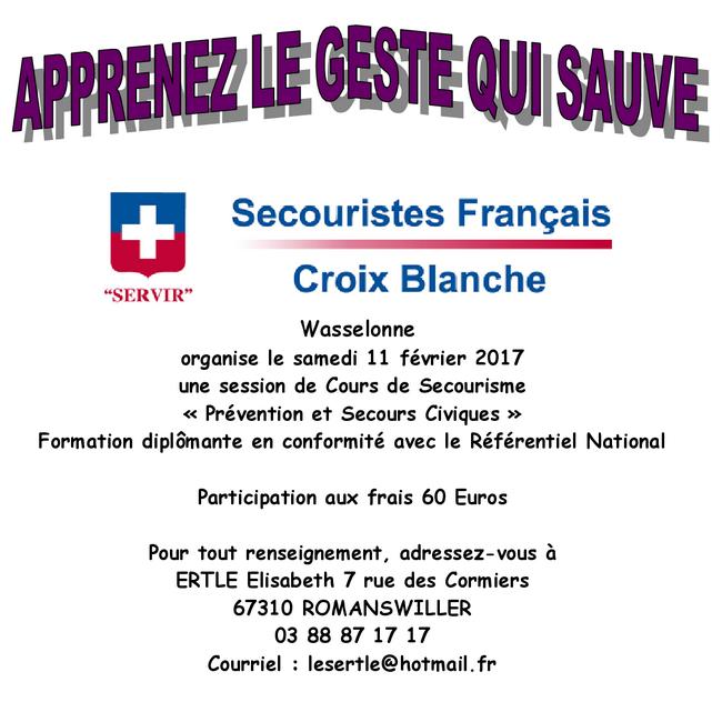 2017 01 27 cours de secourisme a wasselonne