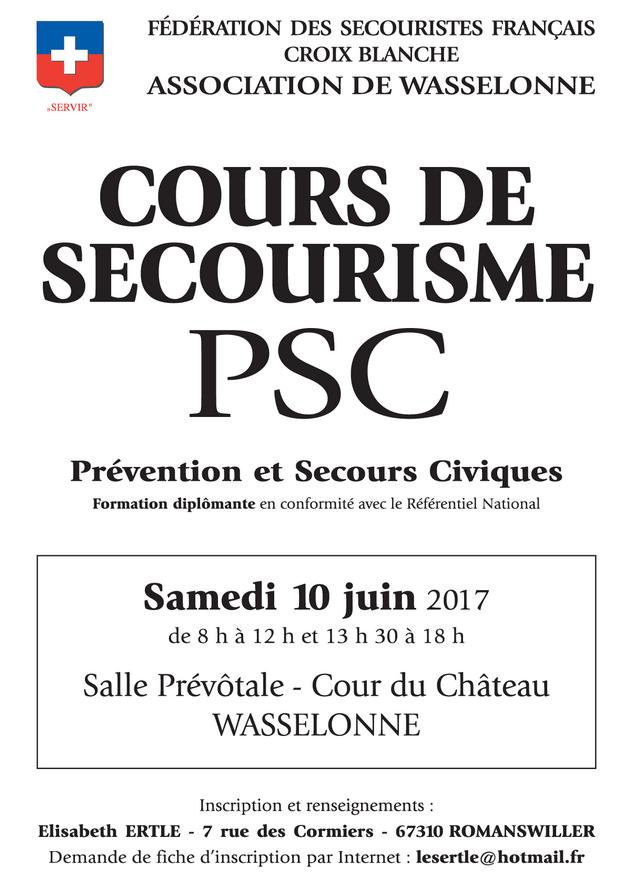 2017 06 10 cours de secourisme wasselonne