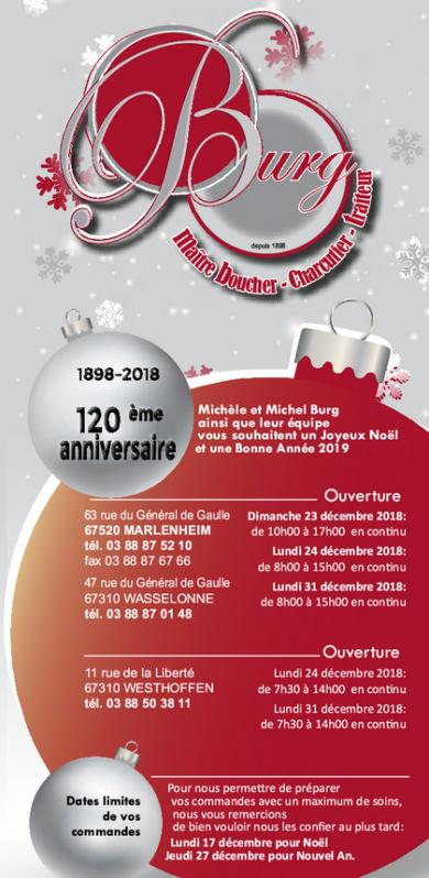 2018 11 29 boucherie traiteur burg carte de fin d annee 2018
