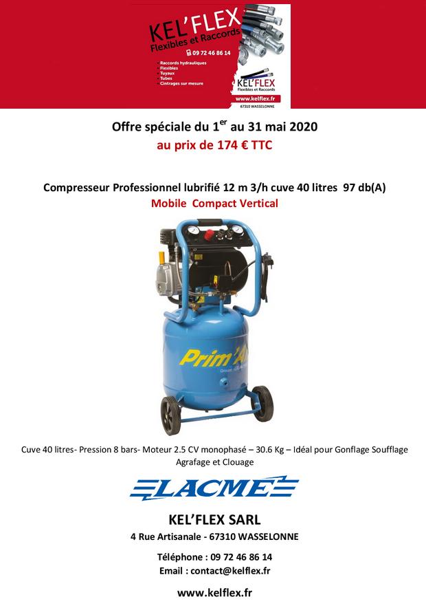 2020 05 01 kel flex offre speciale compresseur professionnel mai 2020