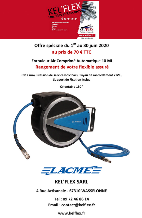 2020 06 01 kel flex offre speciale enrouleur air comprime juin 2020