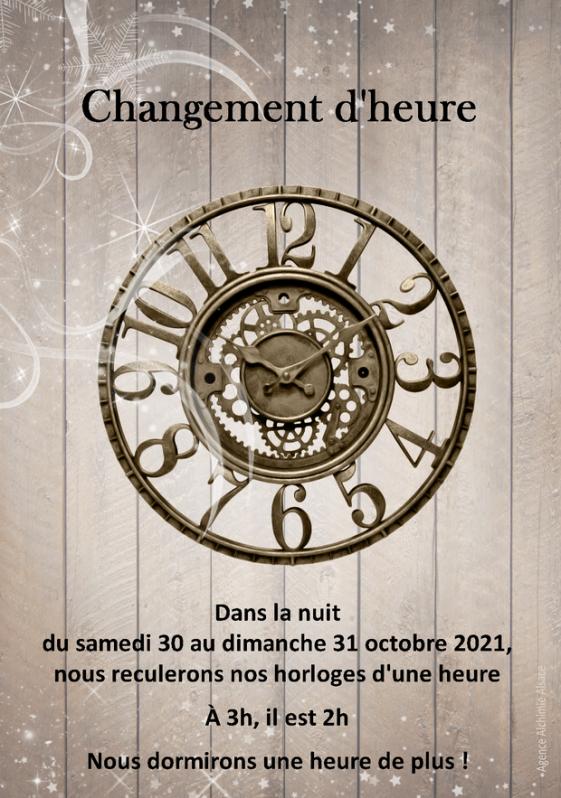 2021 10 31 changement heure hiver 2021