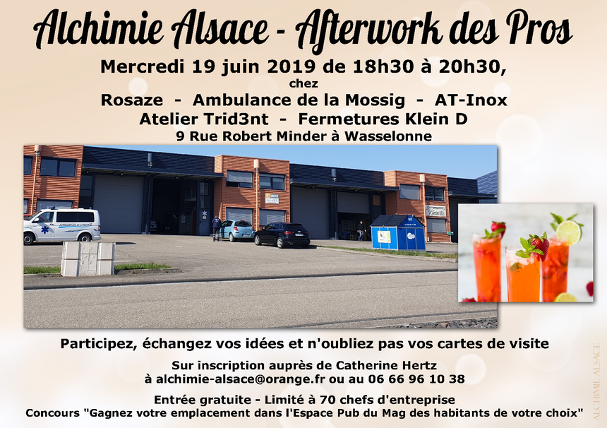 Alchimie alsace after work des pros juin 2019 wasselonne